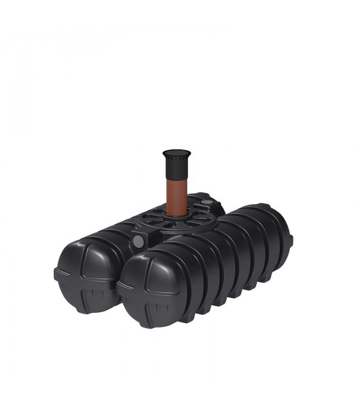 Roth Twinbloc Senkgrube 1500 Liter mit DIBt-Zulassung und Schacht DN 200-600